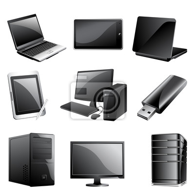 Computer Icon Set Device