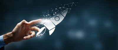 Fototapeta concept of fast business success.