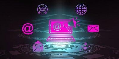 Fototapeta Concept of internet marketing