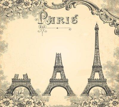 Fototapeta Construction de la tour Eiffel