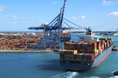 Fototapeta Container Port Sip