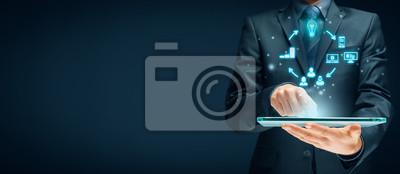 Fototapeta Content marketing cycle concept