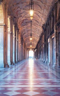 Fototapeta Corridor at St. Marks square in Venice, Italy.