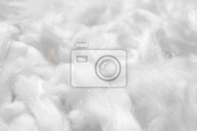Fototapeta Cotton soft fiber texture background, white fluffy natural material