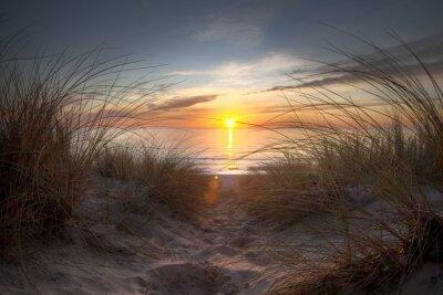 Fototapeta Coucher de soleil sur l'ocean Atlantique