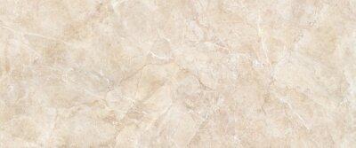 Fototapeta Cream marble stone texture, polished ceramic tile surface