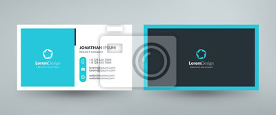 Fototapeta Creative and clean corporate business card template. Vector illustration. Stationery design