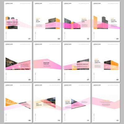 Fototapeta Creative brochure templates with architecture design. Abstract modern architectural background. Covers design templates for flyer, leaflet, brochure, report, presentation, advertising, magazine.