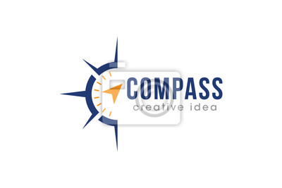 Fototapeta Creative Compass Concept Logo Design Template