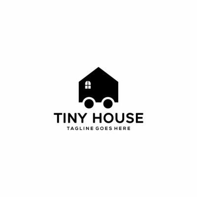 Fototapeta Creative Illustration modern tiny house sign geometric logo design template
