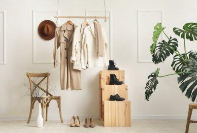 Fototapeta Creative interior of modern wardrobe
