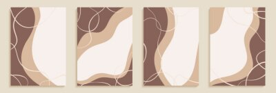 Creative minimalist hand draw Abstract art background with stain and shape elements vector EPS10. Design for home wall decoration, postcard, poster or brochure