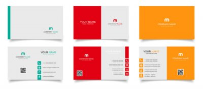 Fototapeta creative modern name card and business card