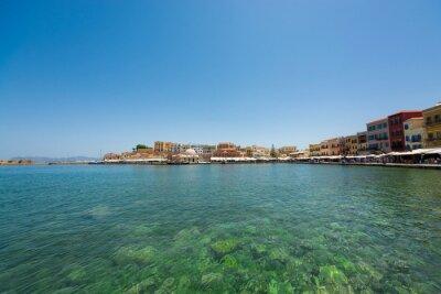 Crete Chania. Piękny wenecki port w Chanii.