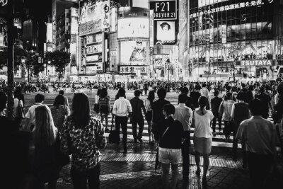 Crowd Crossing City Street