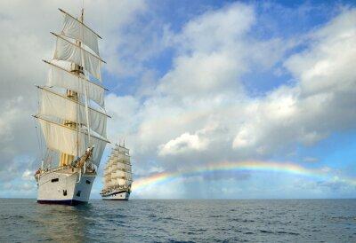 Fototapeta Cruises on sailing ships