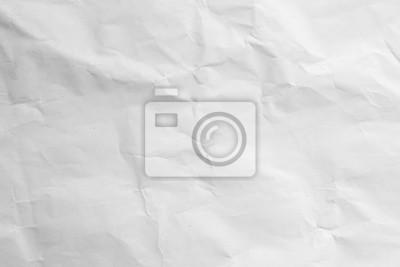 Fototapeta crumpled white paper texture background