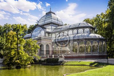 Fototapeta Crystal Palace w parku Retiro, Madryt, Hiszpania