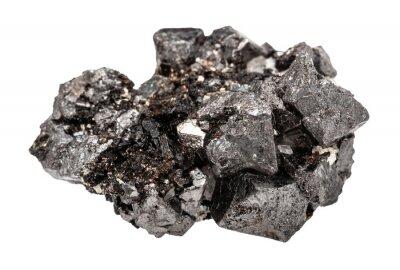 Fototapeta crystalline Magnetite (lodestone, iron ore) rock