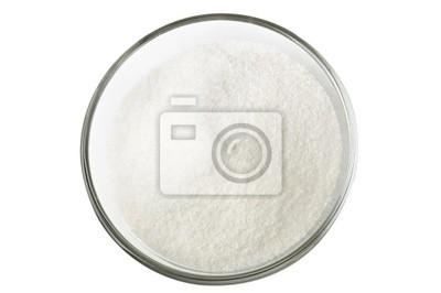 Cukier w szklanej miseczki