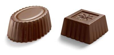 Fototapeta cukierki czekoladowe na białym tle