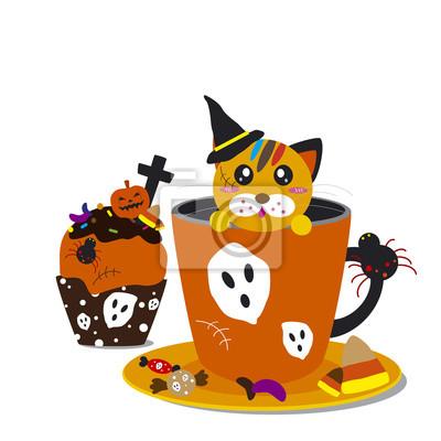 Cupcake Halloween i projektowania kawiarnia