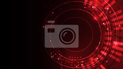 Fototapeta Cyber space red vector