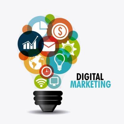 Fototapeta Cyfrowa konstrukcja marketing.