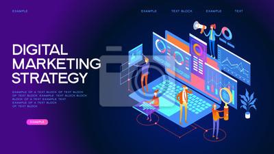 Fototapeta Cyfrowa strategia marketingowa Baner internetowy