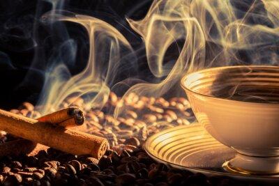 Fototapeta Cynamonu zapach palonej kawy