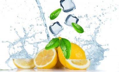 Fototapeta Cytryna z plusk wody