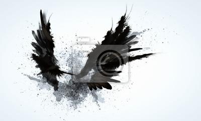 Fototapeta Czarne skrzydła