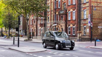 Fototapeta Czarne taksówki na London Street