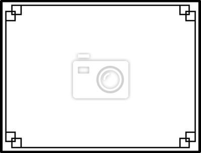 Fototapeta Czarno-białe dekoracyjne ramki obramowania