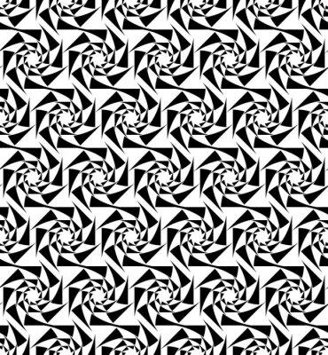 Fototapeta Czarno-białe geometryczne szwu wzór, abstrakcyjne tło.
