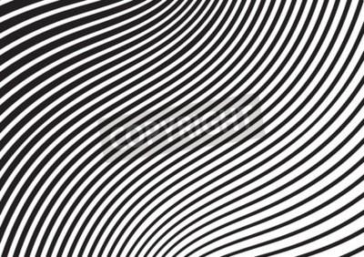 Fototapeta czarno-białe mobious fali paskiem konstrukcja optyczna Opart