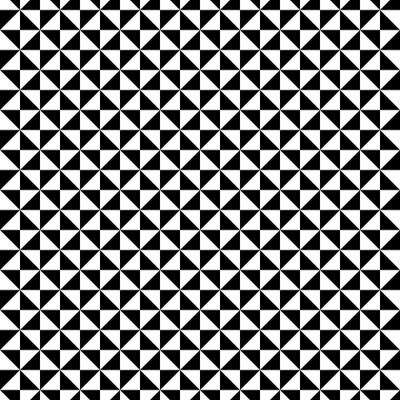 Fototapeta Czarno-biały wzór trójkąta
