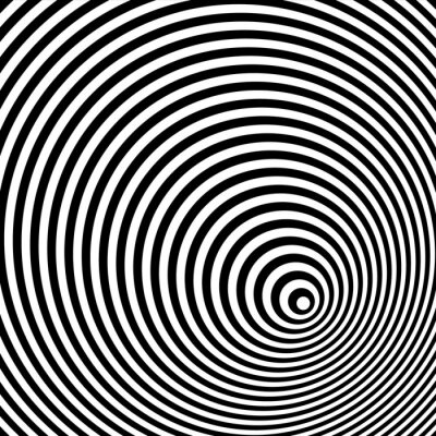Fototapeta Czarno-biały złudzenie optyczne