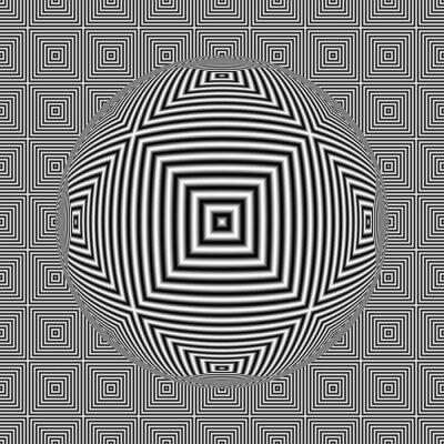 Fototapeta Czarno-biały złudzenie optyczne placu szwu z kuli 3D