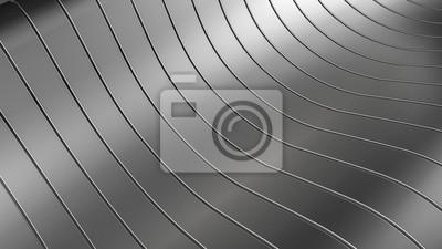 Fototapeta Czarny, elegancki, nowoczesny metaliczne tło z gładkimi liniami. 3d