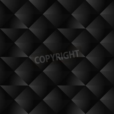 Fototapeta Czarny Geometryczny Bezszwowych Wzorca