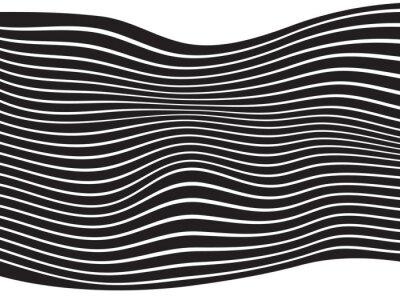 Fototapeta czarny i biały pasek projekt fala mobious optyczne