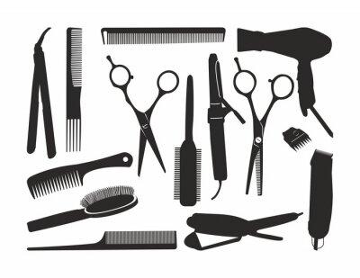 Fototapeta czarny kontur fryzur tools1