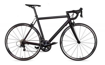 Fototapeta czarny wyścigi sportowe drogi racer rower racer rower na białym tle