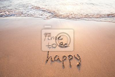 Fototapeta czas, aby być szczęśliwym, koncepcja szczęścia