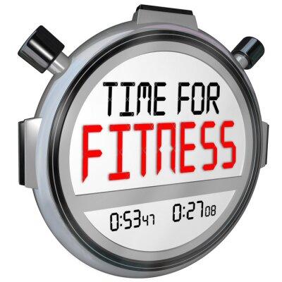 Fototapeta Czas na słowa Fitness stoper trening fizyczny