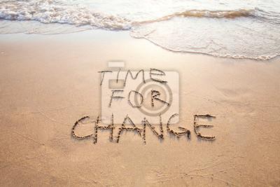 Fototapeta Czas na zmiany, koncepcja nowa, życie zmienia się i doskonalenia