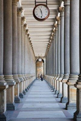 Fototapeta Czas płynie ... (Kolumnada w Karlovy Vary, Republika Czeska)