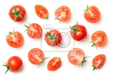 Fototapeta Czereśniowi pomidory odizolowywający na białym tle
