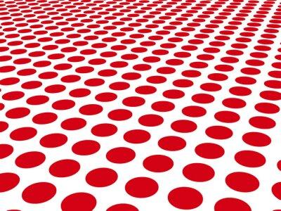 Fototapeta Czerwone kropki na białym